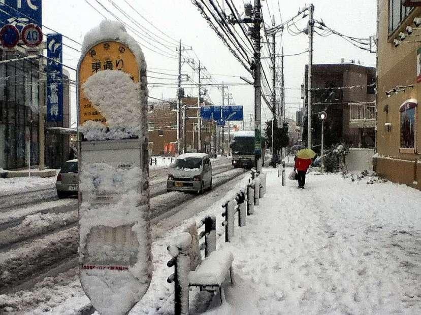 nevada japon kanagawa 14 enero 2013 parada autobus