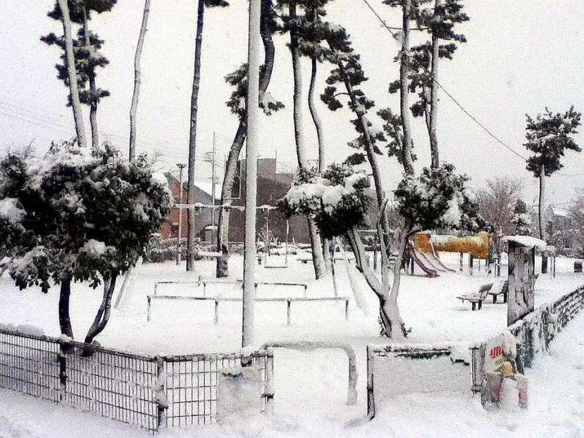 nevada japon kanagawa 14 enero 2013 parque