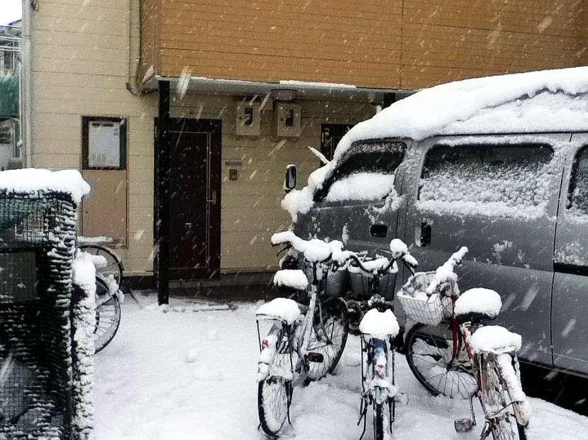 nevada japon kanagawa 14 enero 2013 puerta casa