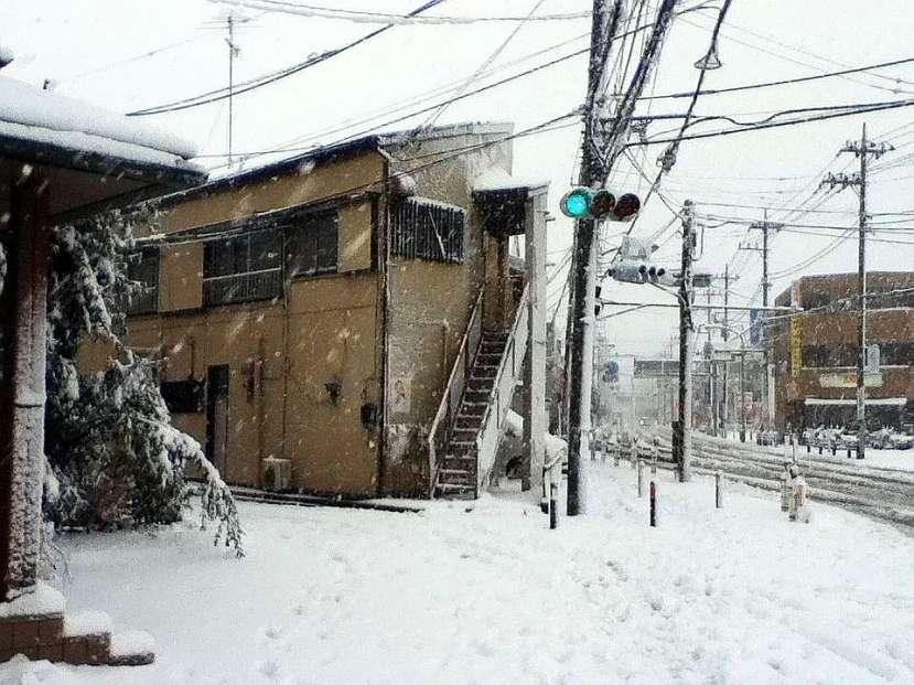 nevada japon kanagawa 14 enero 2013 semaforo
