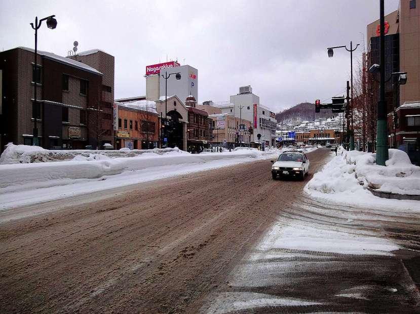 otaru avenida principal calle perpendicular