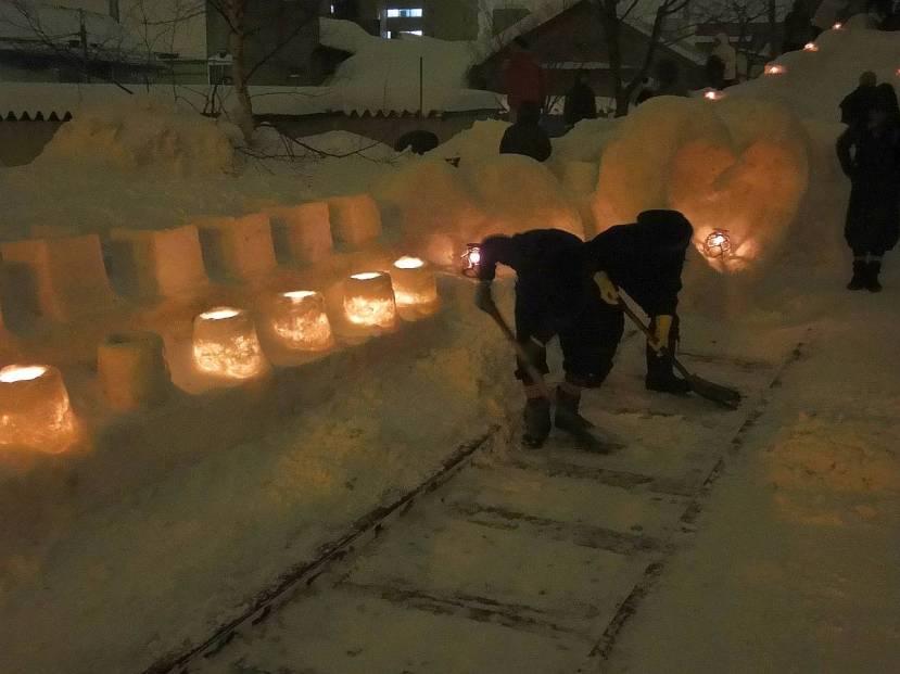otaru temiya line yuki matsuri cavando nieve palas