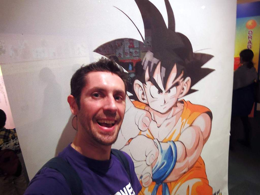the world of dragon ball exposición Goku