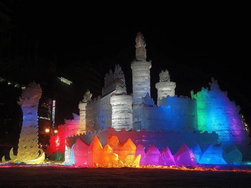 yuki matsuri parque odori estatuas gigantes hielo