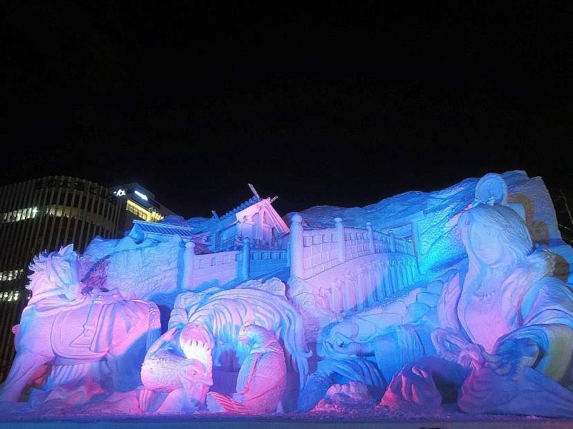 yuki matsuri parque odori estatuas gigantes hielo 01
