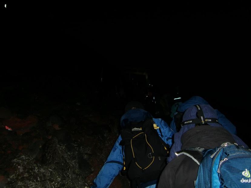 Subir al Monte Fuji. Cerca de la llegada.