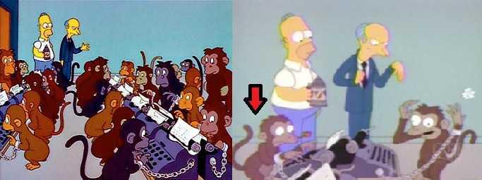 Comparacion de los Snow Monkeys con los Simpson
