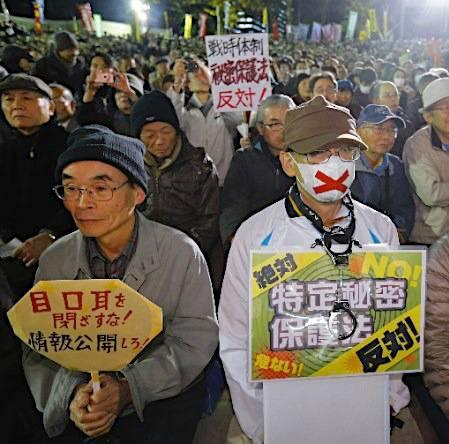 manifestacion-en-contra-de-la-ley-del-secreto-himitsuhogohou