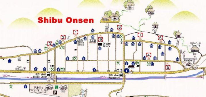 Shibu Onsen Map