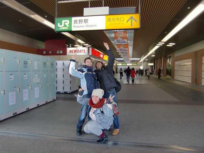 Llegada a la estación de Nagano