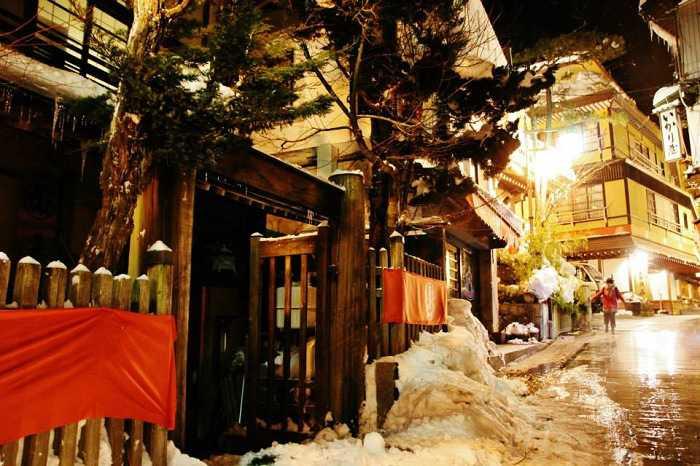 Yudanaka Shibu Onsen. Fotos de noche