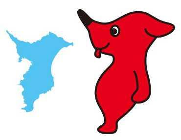 comparativa-de-la-forma-de-la-mascota-chiba-kun-con-la-forma-de-la-prefectura-de-chiba