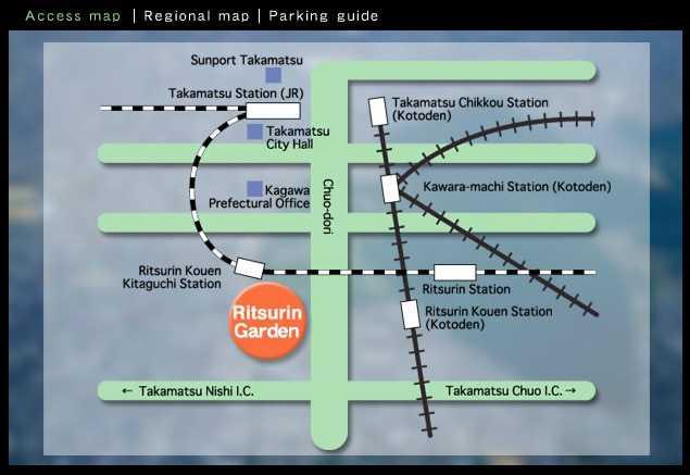 ritsurin garden takamatsu como llegar mapa