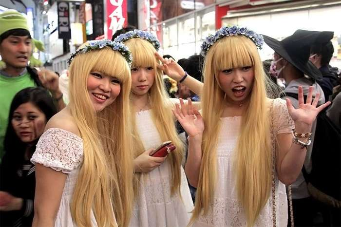 Halloween Shibuya 2014 Japonesas monas