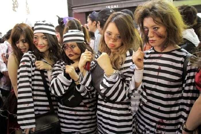 Halloween Shibuya zombies presos