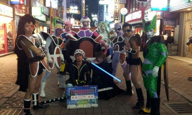 Halloween Shibuya 2014 Bola Dragon