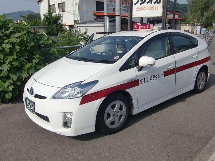 Shikoku. Imabari 007. Autobus hacia mirador. Parada Kameyama. Taxi