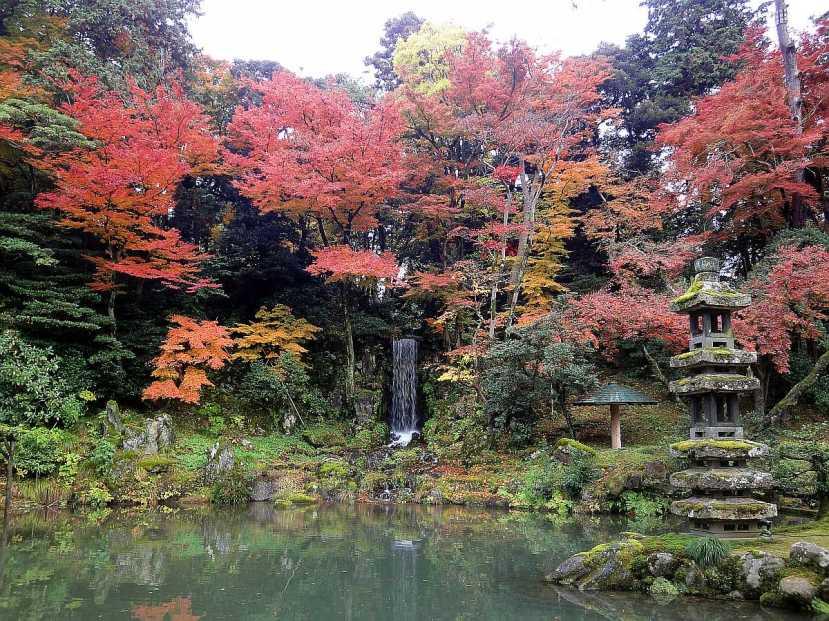 jardin Kenrokuen kanazawa estanque