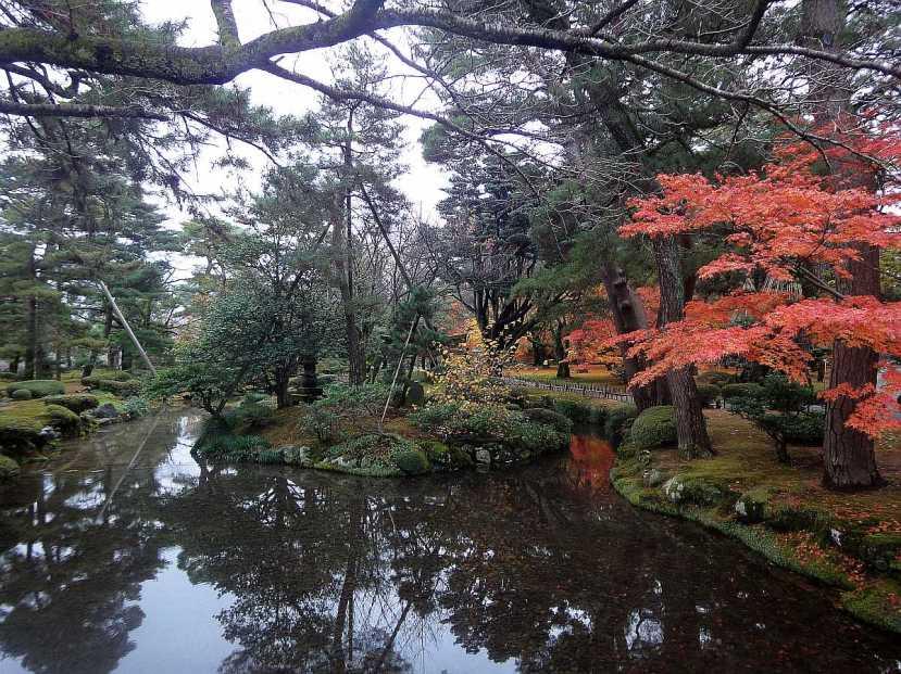 jardin Kenrokuen kanazawa riachuelo