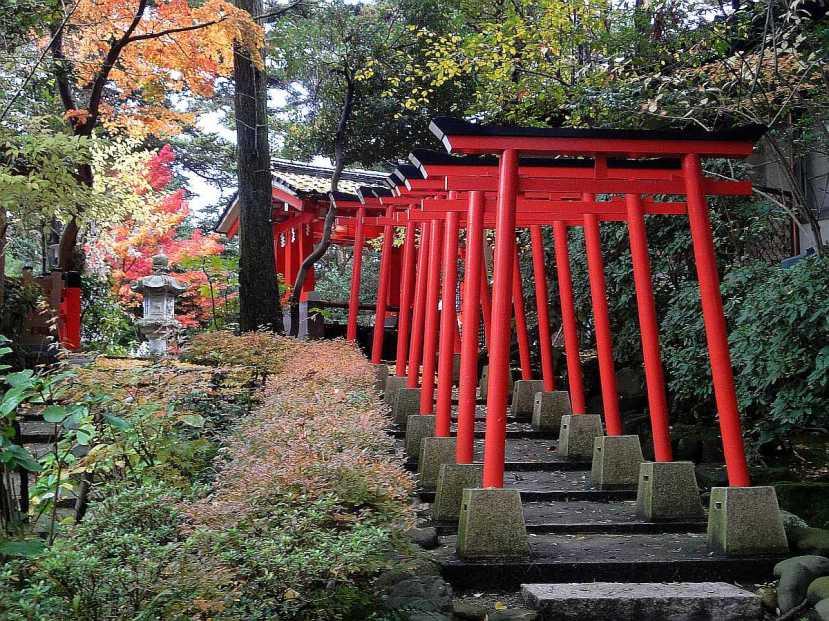 jardin Kenrokuen kanazawa torii