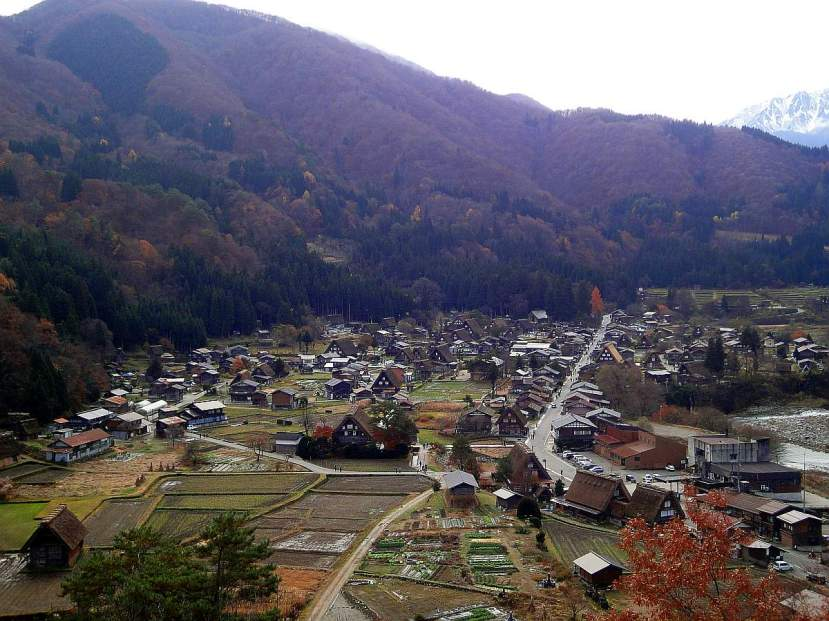 shirakawago desde la altura mirador