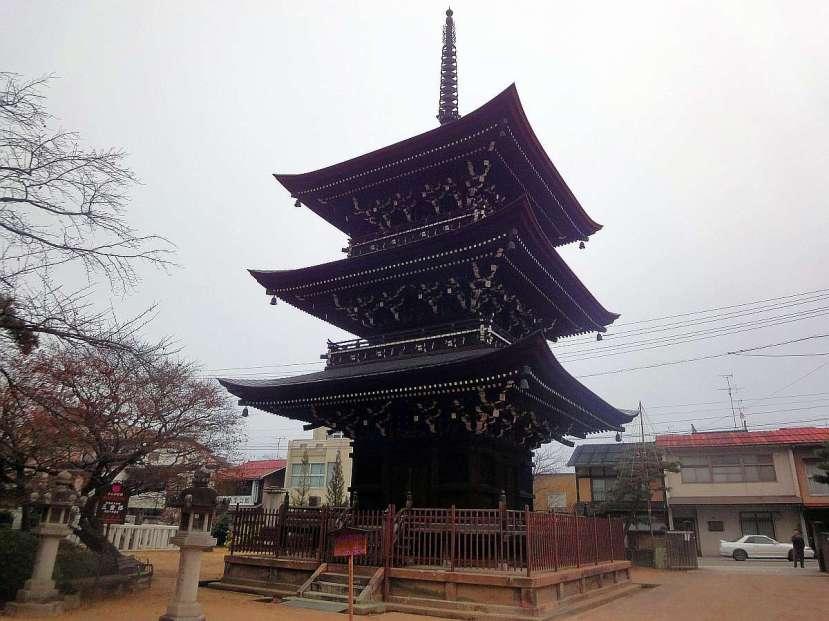 takayama templo Hida Kokubun-Ji pagoda