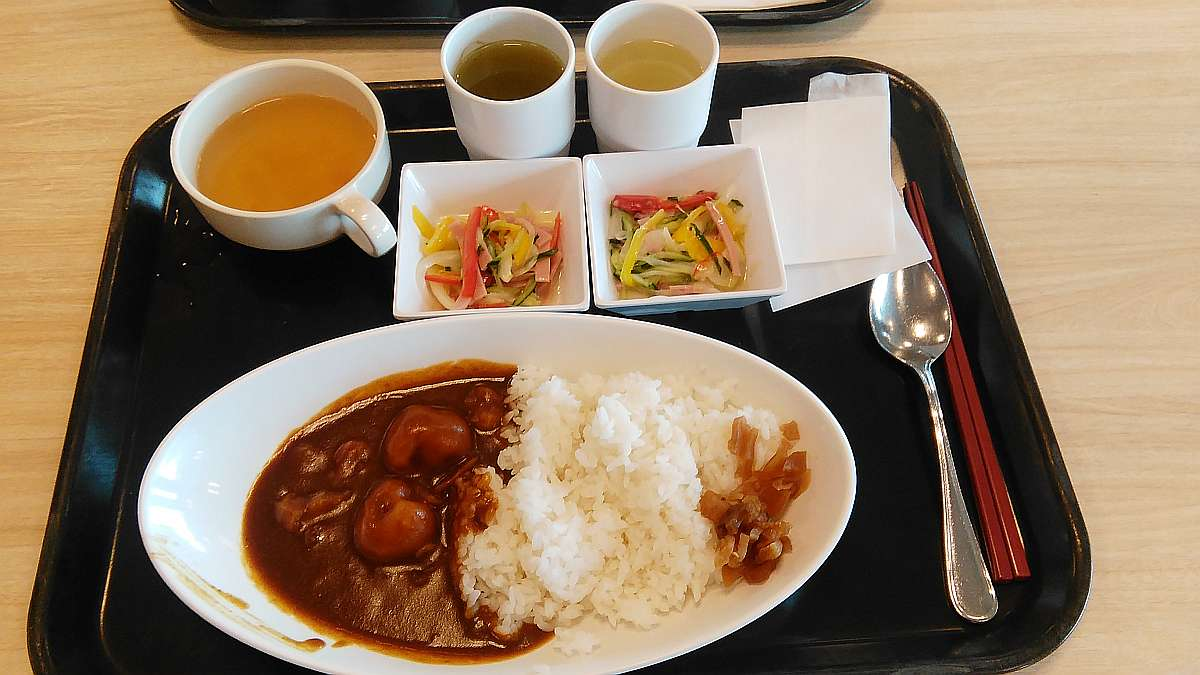 comida rakuten oficina Shinagawa Seaside arroz con curry