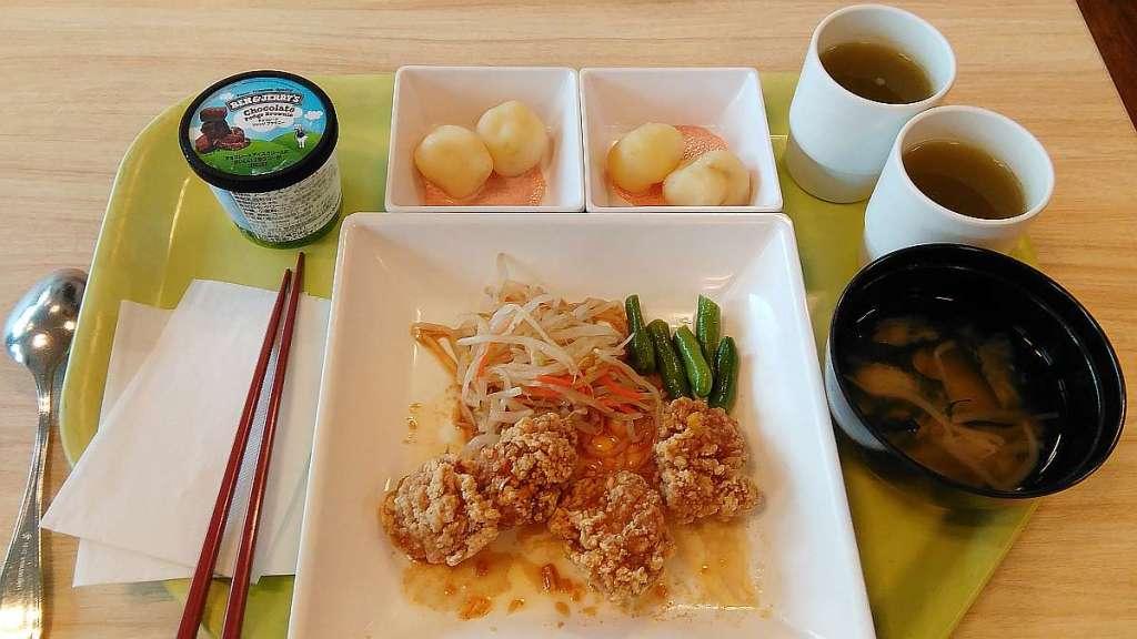 comida rakuten oficina Shinagawa Seaside pollo karaage
