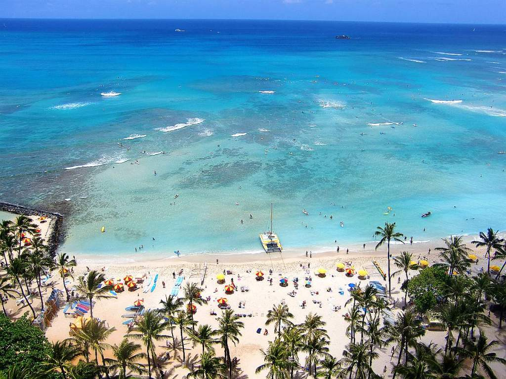 luna miel hawaii vistas full ocean view hotel hyatt playa waikiki