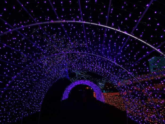 Yomiuriland iluminacion