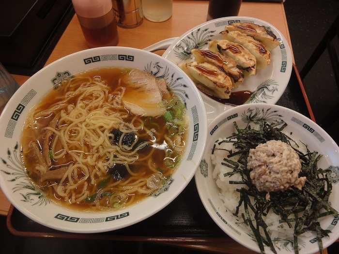 ramen gyoza menu teishoku