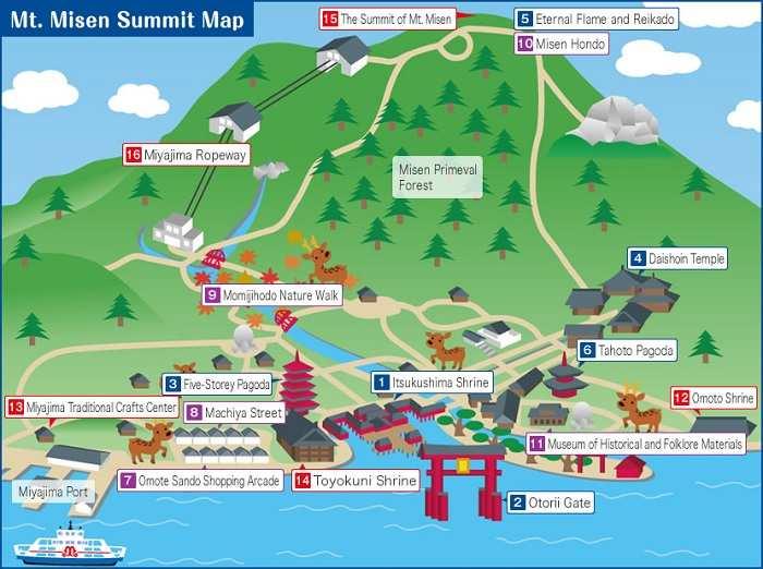 Miyajima Mapa Mt Misen