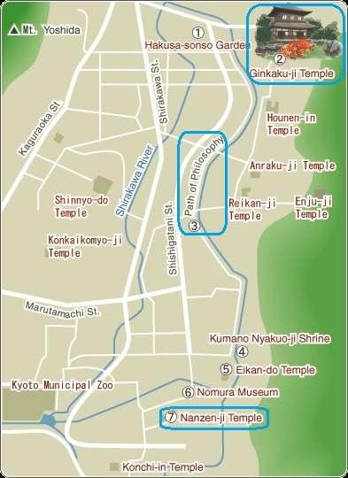 Mapa Kyoto Higashiyama A