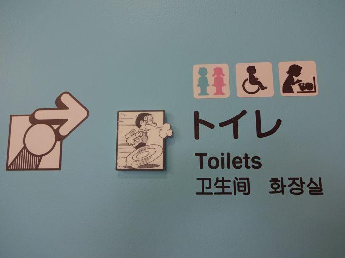 Servicios toilet museo Doraemon
