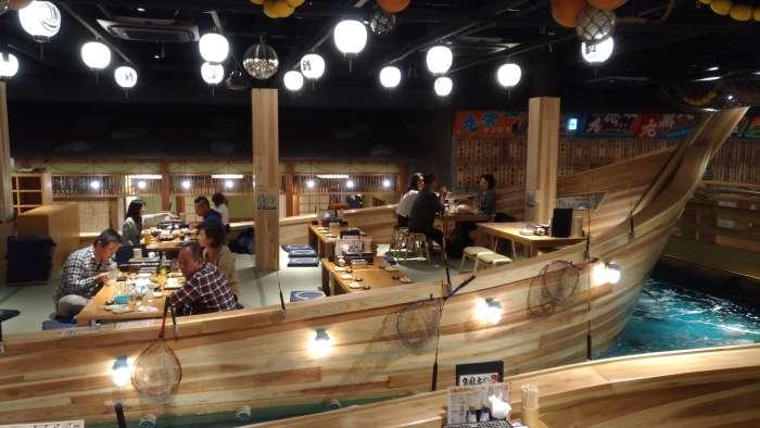 restaurante tsuri kichi osaka - barco superior