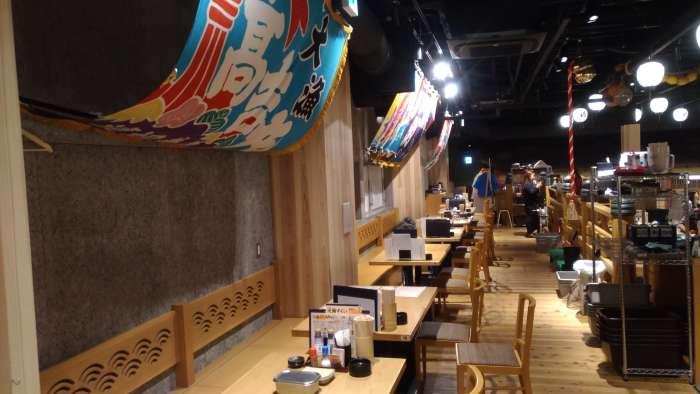 restaurante tsuri kichi osaka - pasillo fondo con mesas