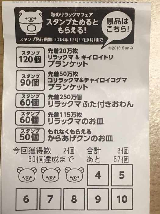 rilakkuma ticket lawson