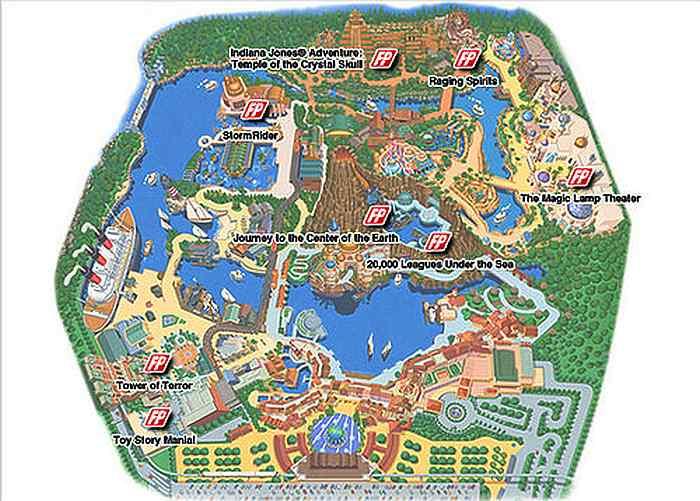 FastPass mapa Disney Sea Tokyo