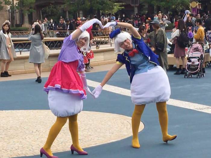 donald daisy cosplay disney sea love
