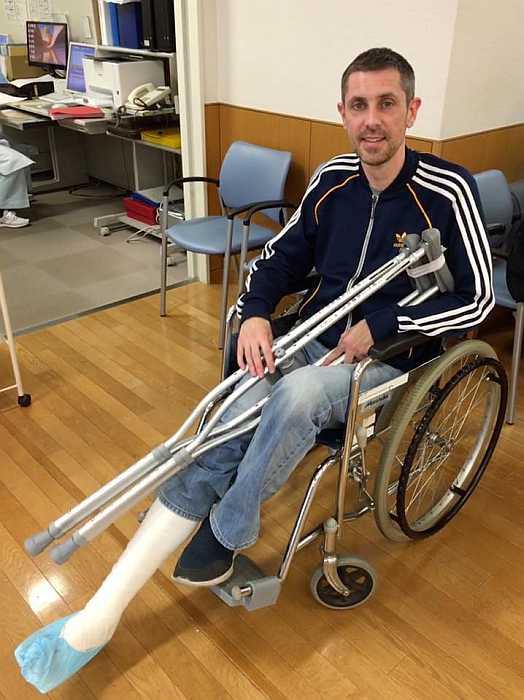 fractura tobillo hospital japon