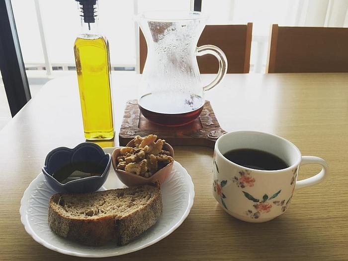 desayuno saludable cafe aceite oliva nueces