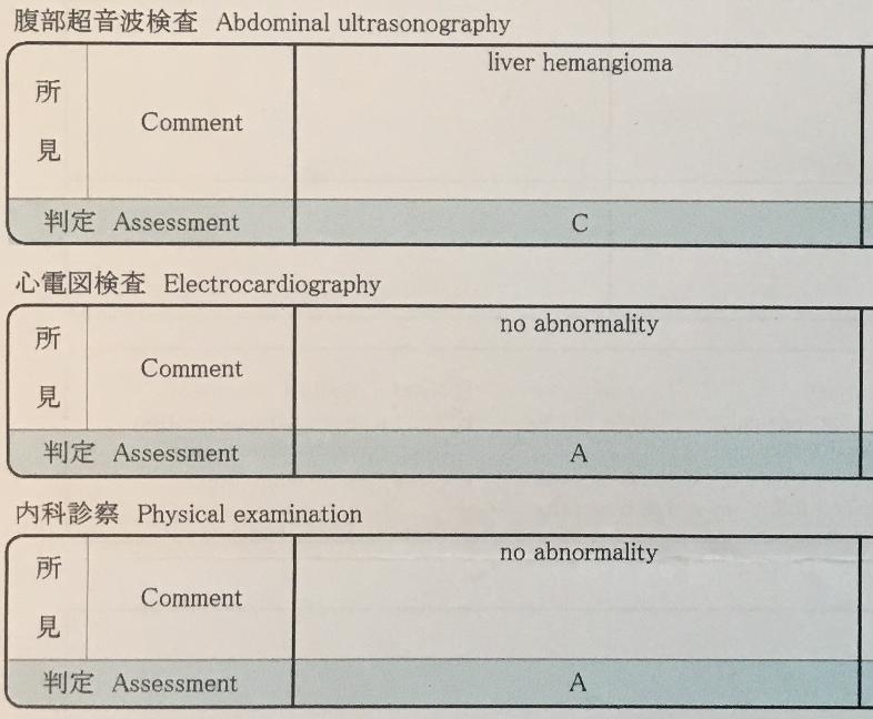 hemangioma hígado examen medico japon