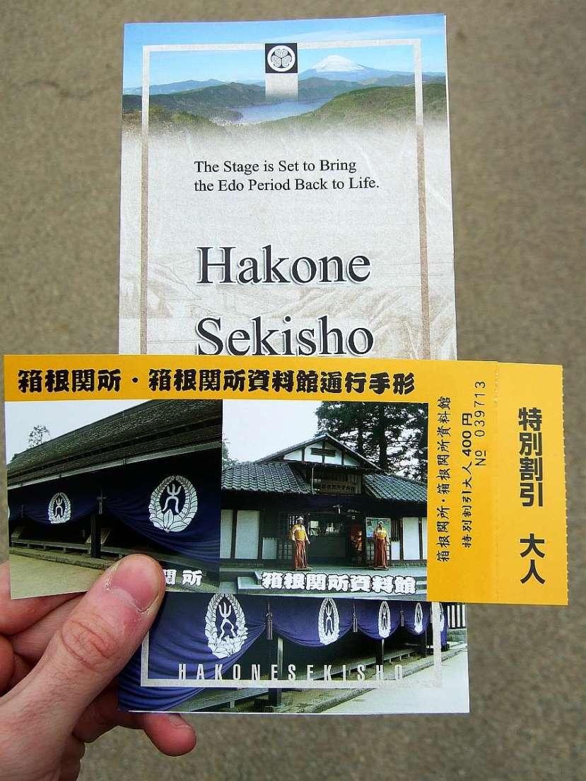 hakone museo sekisho entrada tiquet