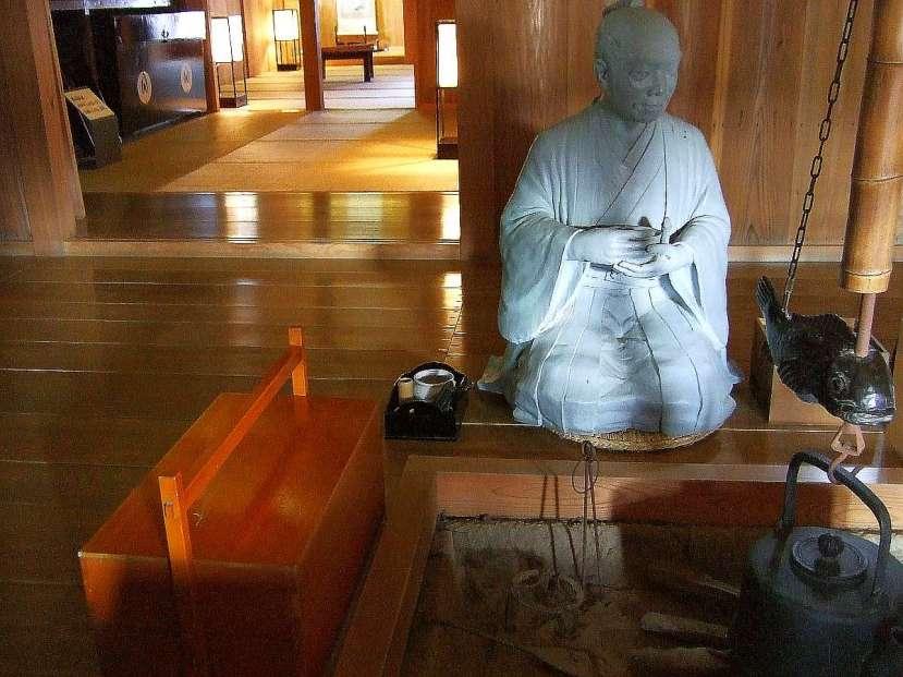 hakone museo sekisho interior estatuas reproducción campesinos