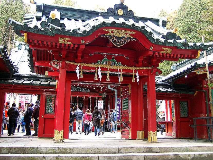 Motohakone calzada Hakone KyuuKaidou templo torii
