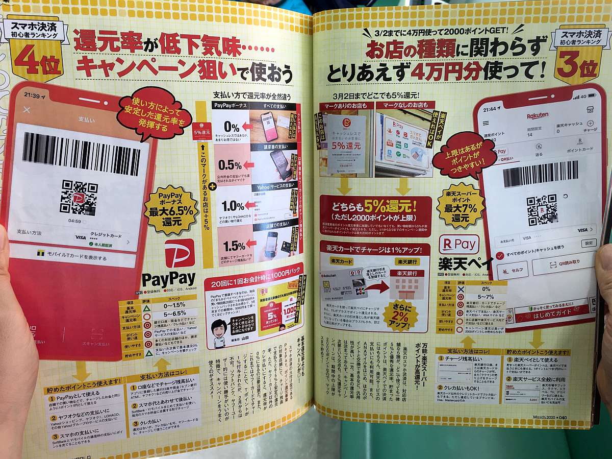 Ranking aplicaciones cashless Rakuten pay y paypay